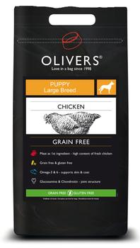OLIVERS LARGE BREED PUPPY GRAIN FREE - 12 kg