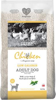 10,5 kg Kingsmoor Pure Dog Chicken LOW CALORIE - Pure Let Kingsmoor - Kylling DIÆT