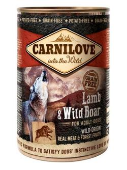 Carnilowe Canned Lamb & Wild Boar for adult dogs - dåse  400 g