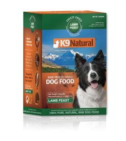 K9 Natural Freeze Dried Lamb, 3,6 kg - svarer til 14,4 kg fersk kød - KORNFRI