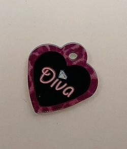 Heart small, Diva, hundetegn 29 mm
