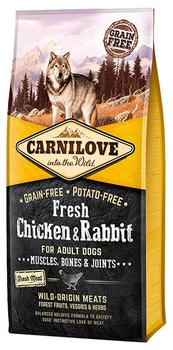 Carnilove Fresh Chicken + Rabbit, Adult Dogs m. frisk kød, 12 kg