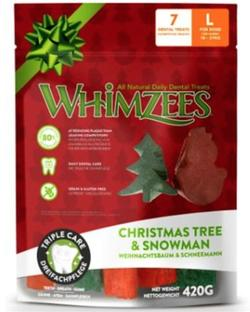 WHIMZEES Christmas Variety Bag, L, pose m/7 stk.