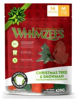 WHIMZEES Christmas Variety Bag, M, pose m/14 stk.