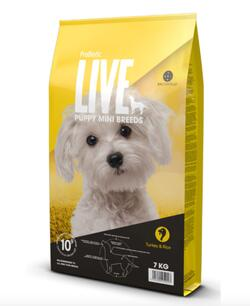 Probiotic Live Puppy MINI BREEDS Kalkun & ris - 2 kg