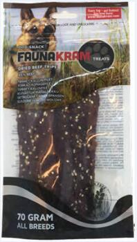 Faunakram Dog Snack, 70 g oksefilet, 85% real meat - GLUTENFRI