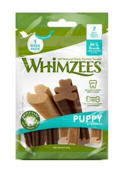 WHIMZEES tyggeben, Puppy, XS/S, pose m/14 stk.