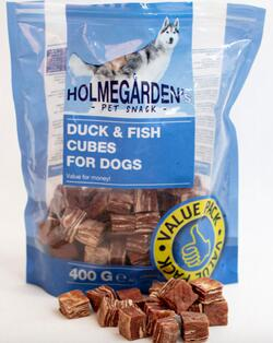 Holmegården KORNFRI Value Pack 400 g. And og Fisketerninger