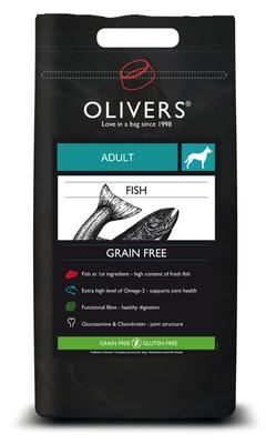 OLIVERS ADULT FISH GRAIN FREE, MEDIUM - 12 kg