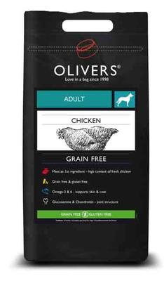 OLIVERS ADULT CHICKEN GRAIN FREE, MEDIUM - 12 kg