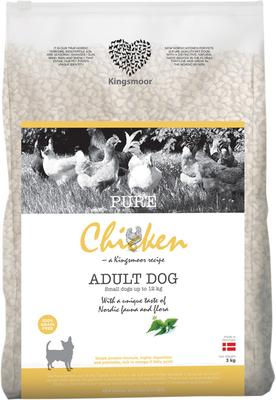 3 kg Kingsmoor Pure Dog Chicken - Pure Kylling Kingsmoor til små racer
