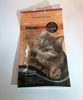 Faunakram Salmon Strips for cats - 94% laks, 50 g