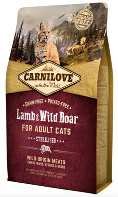 Carnilove Lamb og Wild Boar for Adult Cats - Sterilised 2 kg