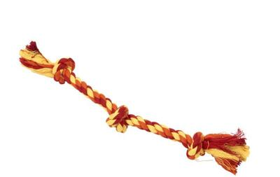 BUSTER Colour Dental Rope 3-Knot, red/orange/yellow, x-small, 25 cm