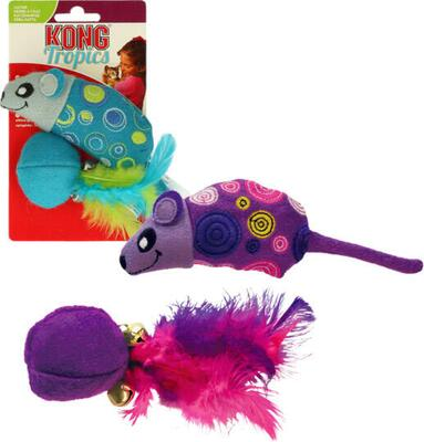 Kong Cat Tropics Mouse / Ball - 2 pack