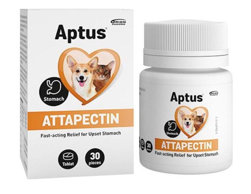 Image of   Aptus Attapectin tabletter 30 stk. - til hund og kat - BEMÆRK : billede af pakning kan afvige fra varen