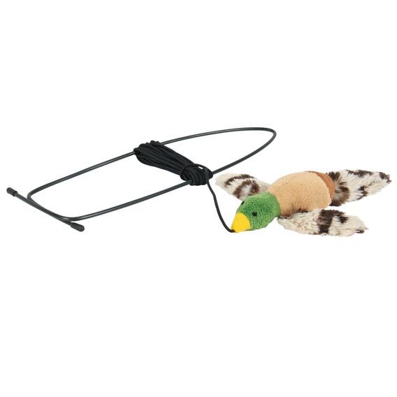 Image of   Flyvende fugl til dørkarmen - legetøj til katte