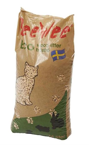 PeeWee træpiller til kattebakken - 14 ltr. - 9 kg