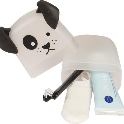 Image of   Tandbørste - fingertandbørste / tandpasta til hvalpe og små hunde