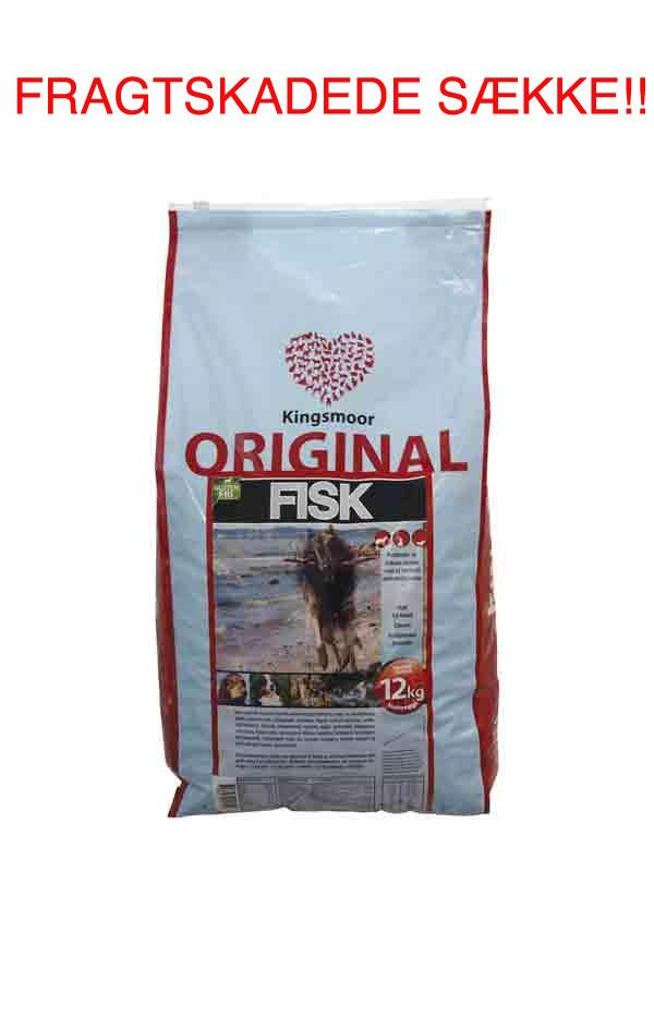 10,5 kg Kingsmoor Original Fisk - FRAGTSKADEDE SÆKKE - indhold helt ok thumbnail