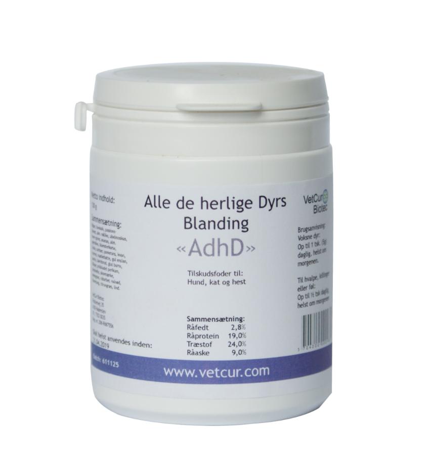 Image of   AdhD pulver 130 g til hest, hund og kat, 130 g