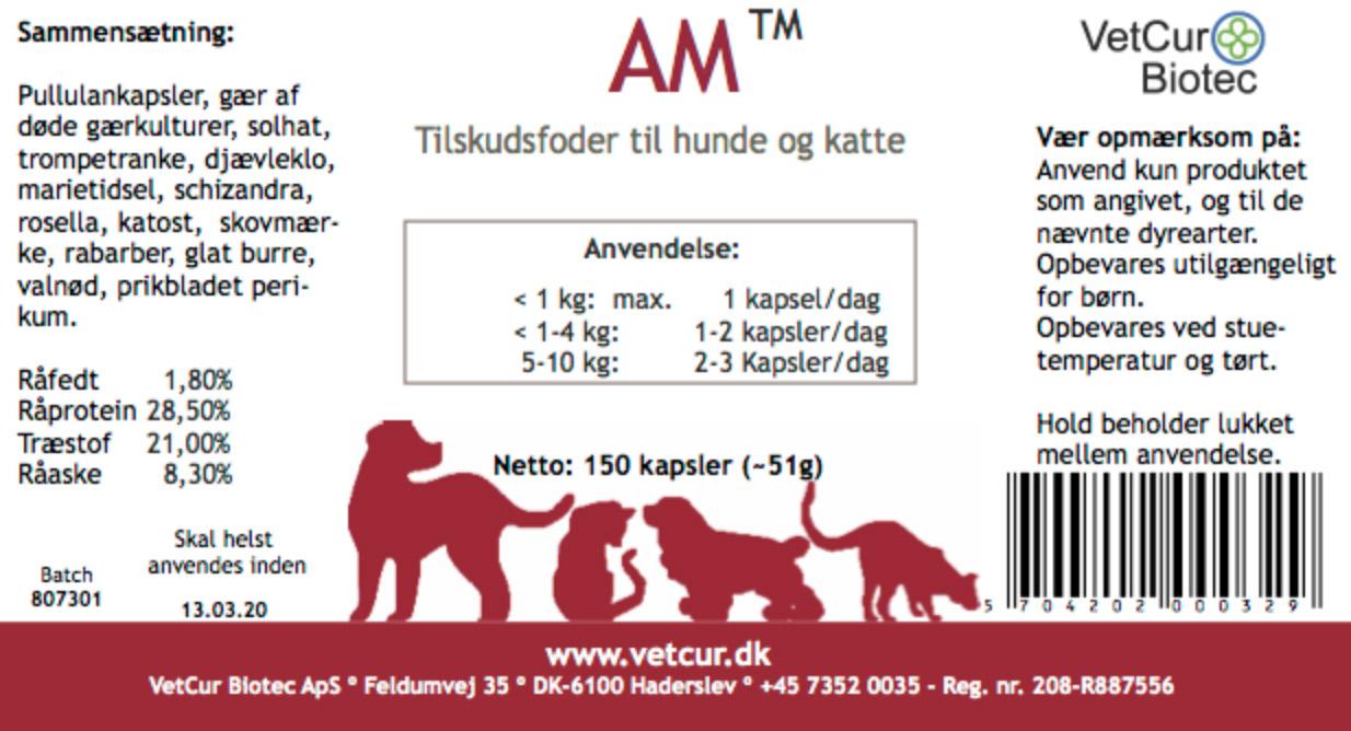 Den røde til hund og kat, HEDDER NU : AM - 150 stk. kaspler thumbnail
