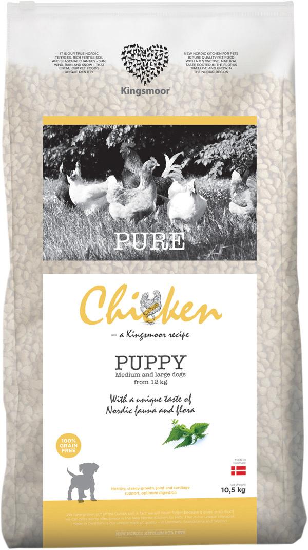 Image of   10,5 kg Kingsmoor Pure Dog Chicken puppy til mellem- og store racer - PURE HVALP KYLLING