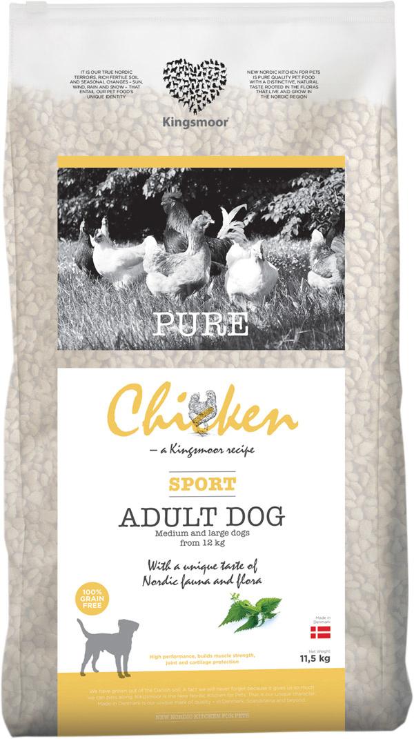 Image of   11,5 kg Kingsmoor Pure Dog Chicken Sport - Pure Sport Kingsmoor - mellem og store racer