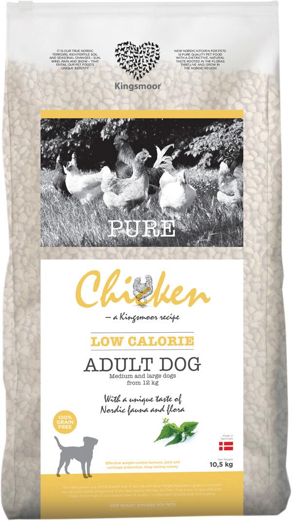 Image of   10,5 kg Kingsmoor Pure Dog Chicken LOW CALORIE - Pure Let Kingsmoor - Kylling DIÆT - mellem og store racer