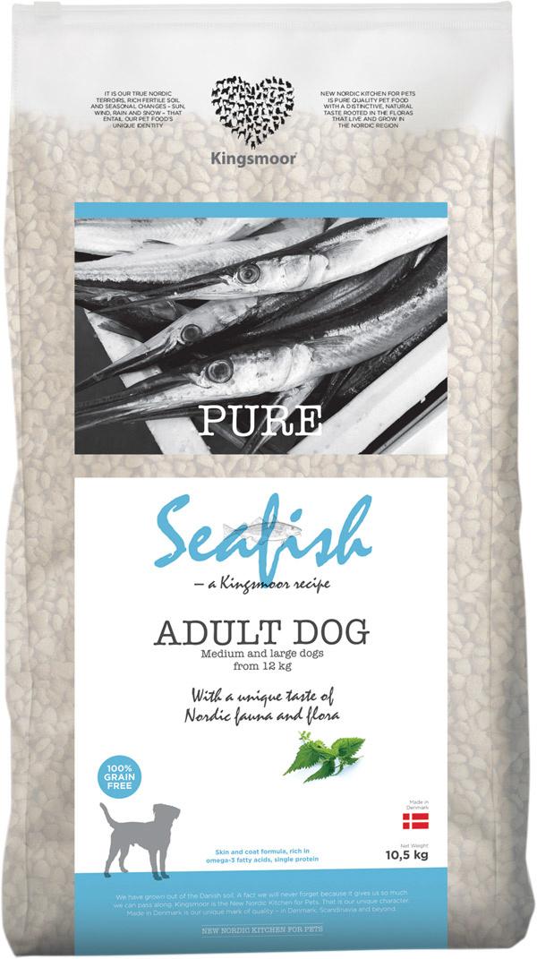 Image of   10,5 kg Kingsmoor Pure Dog Seafish - Pure Havfisk Kingsmoor - mellem og store racer
