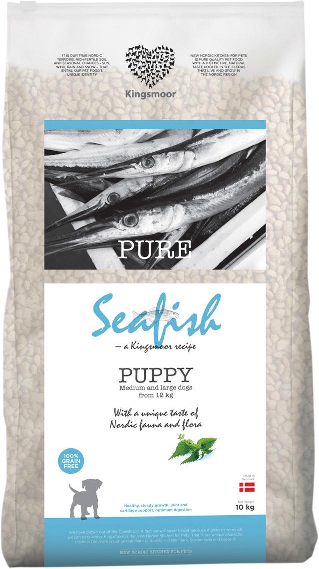 Image of   10 kg Kingsmoor Pure Dog Seafish puppy - Kingsmoor Pure Hvalp Havfisk, mellem- og store racer