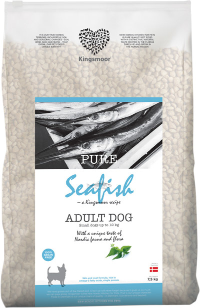 Image of   6,5 kg Kingsmoor Pure Dog Seafish small - Pure Havfisk fra Kingsmoor til små racer