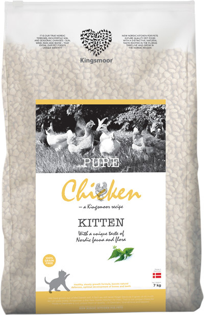 Image of   7 kg Kingsmoor Pure Cat Chicken kitten - PURE KYLLING KINGSMOOR KATTEMAD TIL KILLINGER