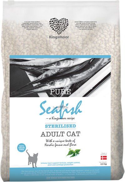 Image of   2,5 kg Kingsmoor Pure Cat Seafish sterilised - Pure Havfisk KINGSMOOR til voksen neutraliseret kat