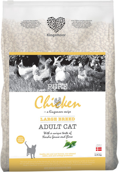 Image of   3 kg Kingsmoor Pure Cat Chicken All cats - Pure Kylling til voksen kat (almindelig huskat)