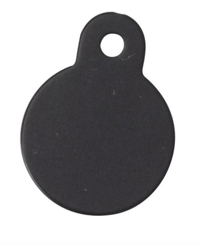 Hundetegn rund 26 mm - sort thumbnail