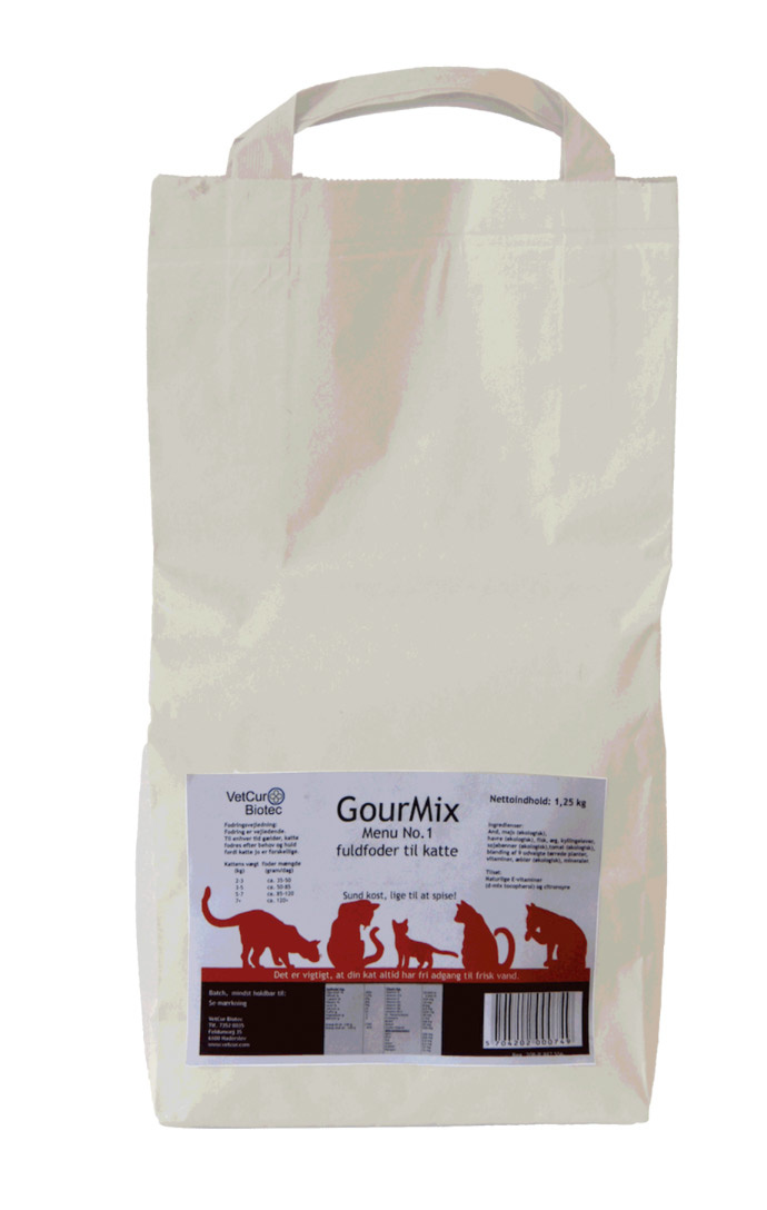 Image of   GourMix Menu No. 1 - 5 kg til kat - INCL. LEVERING OG OVERRASKELSE