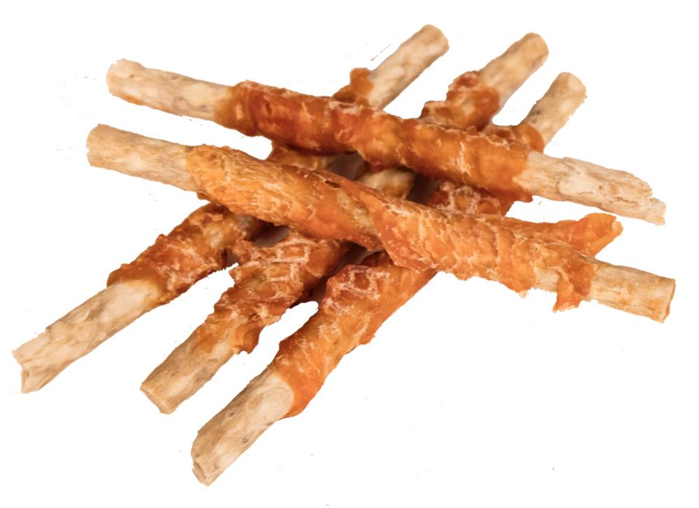 Image of   Glutenfrie Faunakram Munchy Sticks m. kylling, 80 gr. 7 stk., 12 cm lækker godbidsruller
