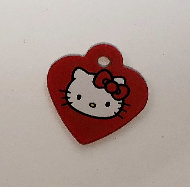 Heart small, Hello Kitty, hundetegn hjerte 29 mm thumbnail