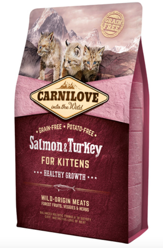 Image of   Carnilove Salmon og Turkey for Kittens - Healthy Growth, 2 kg