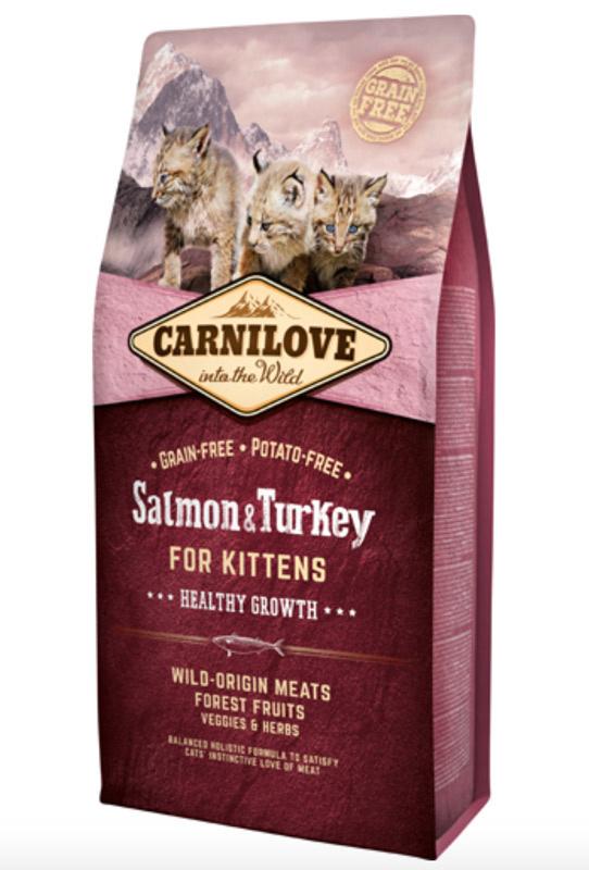 Carnilove Salmon og Turkey for Kittens - Healthy Growth, 6 kg - BEMÆRK INCL. GRATIS FRAGT OG GODBIDDER thumbnail