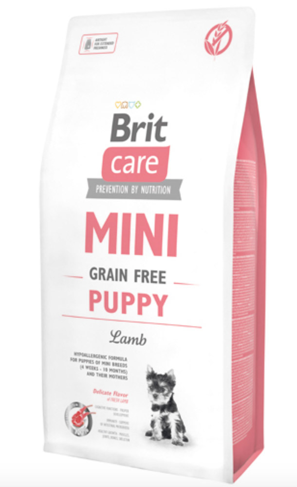 Brit Care Mini - til små racer - Grain Free Puppy Lamb, 7 kg thumbnail