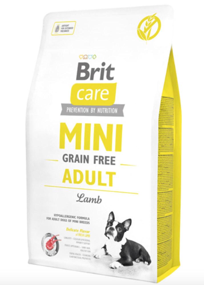 Brit Care Mini - til små racer - Grain Free Adult Lamb - hundefoder med lam, 7 kg thumbnail