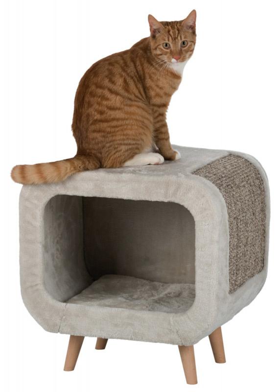 Image of   Alicia Cuddly Cave - hyggehule til katten m. fødder i bøgetræ