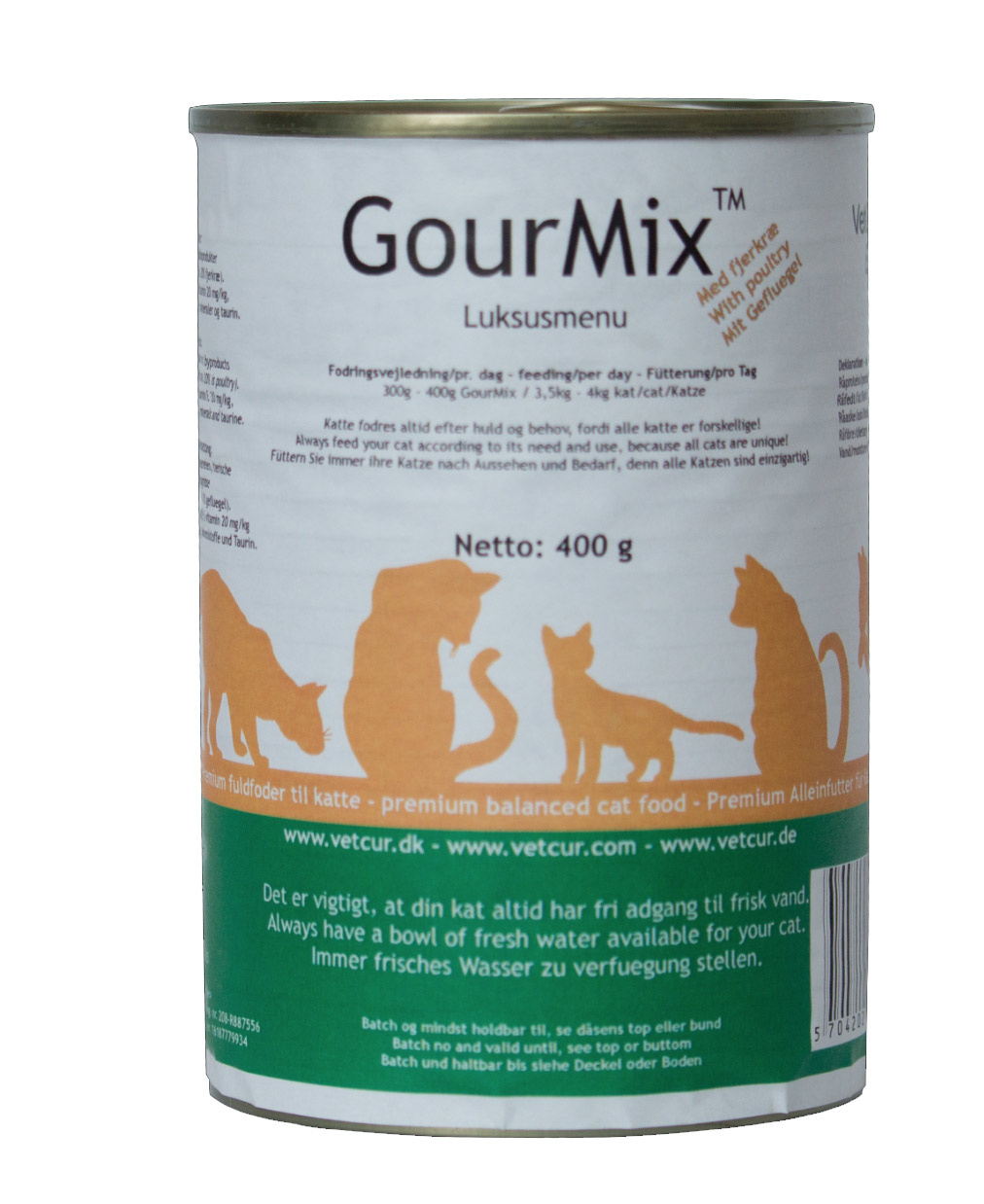 Image of   GourMix - Fjerkræ KAT, 400 g