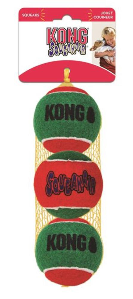 Kong Holiday SqueakerAir Balls, 3 pk, medium thumbnail