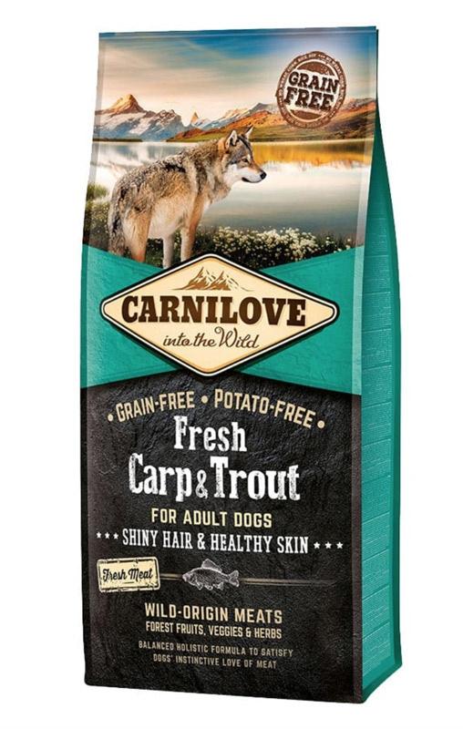 Image of   Carnilove Fresh Carp & Trout - Hund, 12 kg m. frisk kød