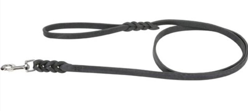 Buffalo-læder line med håndtag 1,8 m - med lækker flet detalje thumbnail