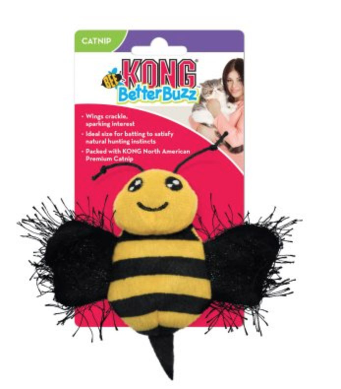 Image of   Kong Better Buzz Bee - Kattelegetøj