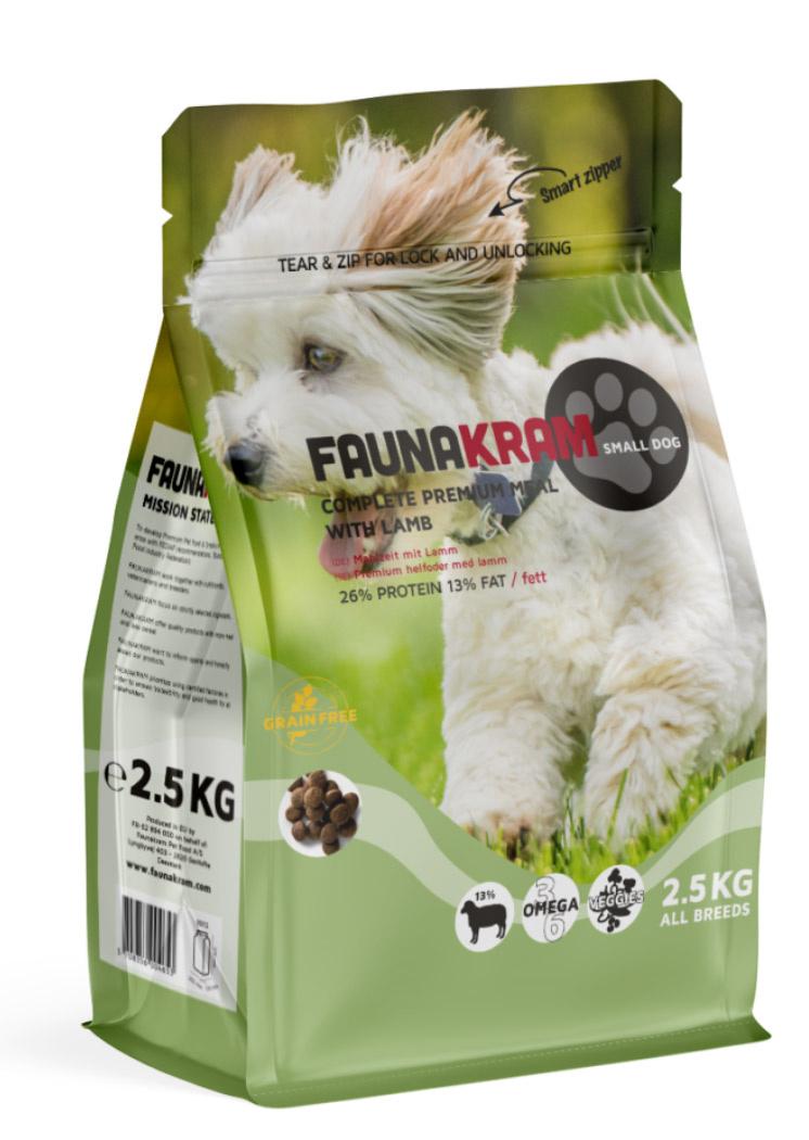 Image of   2,5 kg FAUNAKRAM Kornfri med lam til små hunde